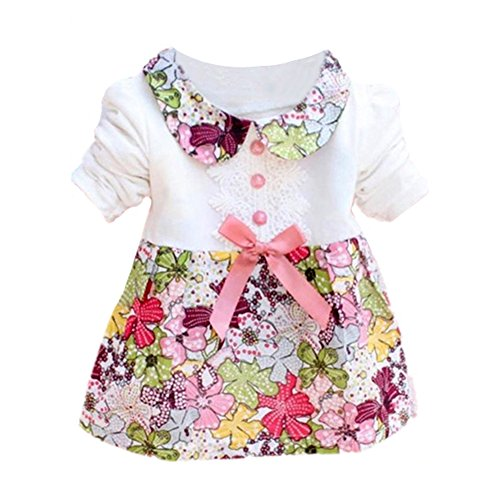 er Blumenprinzessin Dress Bowknot One Piece Kleid Rock (Kleid Für Grils)