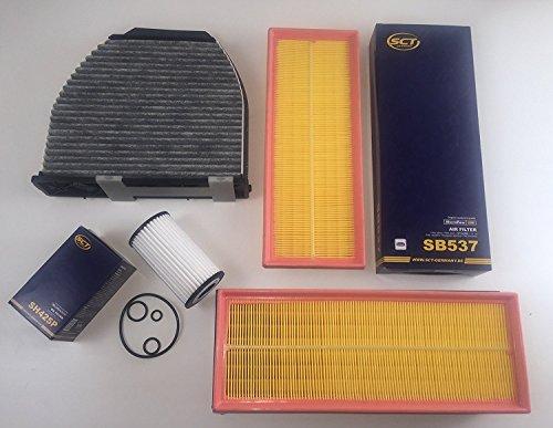 Preisvergleich Produktbild ÖLFILTER 2 x LUFTFILTER AKTIVKOHLEFILTER W204 S204 C230 C280 C350 Benzin C350CGI