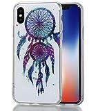 iphone X Hülle, MKOAWA Kunst Gemaltes Kristall Bling Glänzend Funkeln Glitzer Durchsichtig Klar TPU Silikon Hülle Schutz Handy Tasche Etui Bumper Hülle für Apple iphone X/10 (5.8 Zoll) (No.4)