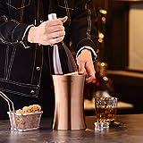 Velaze Edelstahl Flaschenkühler, 1,5 L Weinkühler, Sektkühler, Champagnerfarbe - 9