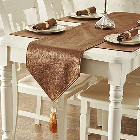Colazione continentale di lusso moda minimalista panno tabella tabella tabella runner bandiera tavolino letto cuscini sciarpe , silver 35*228cm Decorazioni di Natale Halloween-YU&XIN