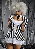 Erwachsene Damen Halloween Beetlejuice Kostüm S (UK 8-10)