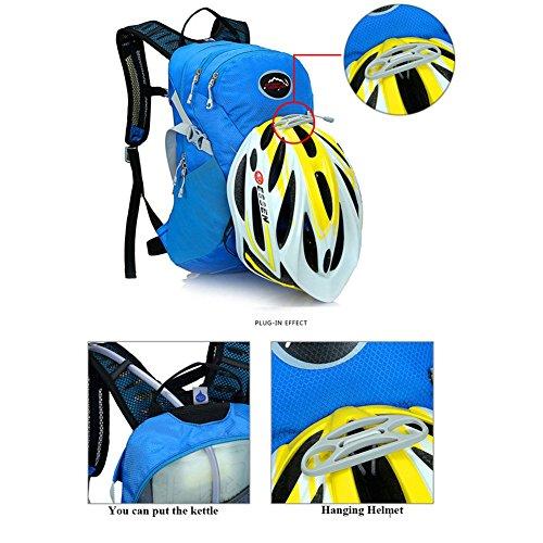 West Radfahren 15L Radfahren Rucksäcke Fahrrad Back Pack MTB Rennrad Bag Cycle Ausrüstung Sport Wandern Camping Taschen grün - lichtgrün