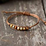 JYHW Bracciale Simple Trendy Natural 4mm Stones Beads Cord Bracciale Friendship Bracciale Cute Girl da Donna