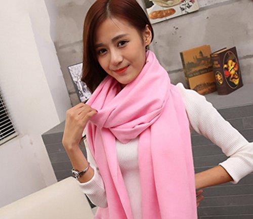 Automne Hiver couleur unie sauvage hiver mode écharpe châle femme ( couleur : # 2 ) 4#