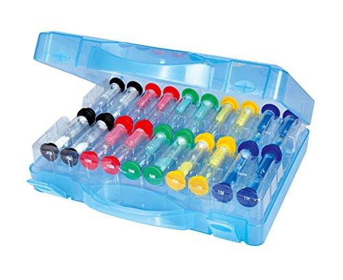 20 Sanduhren im Koffer - Gruppensatz, Zeit kennenlernen, Zähne putzen Kinder Zahnputzuhr Zahnputz-Sand-Uhr Timer Schule Kindergarten Lehrer