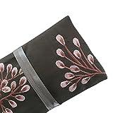 Schmuckrolle, handgefertigt, Fairtrade, Silber, Grau, Pink bestickt