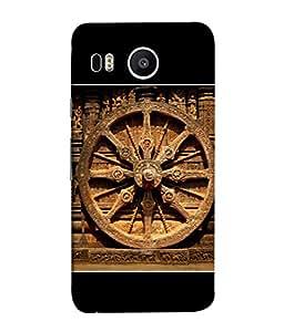 Fuson Designer Back Case Cover for LG Nexus 5X :: LG Google Nexus 5X New (Konark wheel Sun Temple Ancient )
