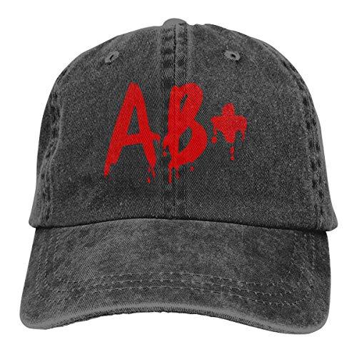 j65rwjtrhtr Men\'s Or Women\'s Adjustable Denim Jeans Baseball Kappen Blood Group AB+ Plain Cap