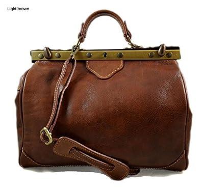 Sac docteur sacoche femme sac à main en cuir sac femme sacoche besace bandoulière sac à bandoulière sac a main sac d'èpaule marron clair