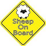 15,2x 15,2cm Schaf On Board Lamb Bumper Aufkleber Aufkleber Vinyl Ewe Fenster Aufkleber Aufkleber