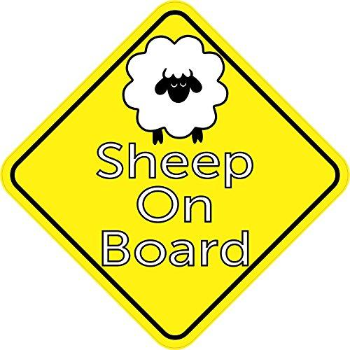 15,2x 15,2cm Schaf On Board Aufkleber Vinyl Animal Fahrzeug Bumper Aufkleber von stickertalk®