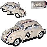 VW Volkswagen Käfer Herbie Nr 53 The Love Bug 1962 1/24 Yatming Lucky Die Cast Modell Auto mit oder ohne individiuellem Wunschkennzeichen