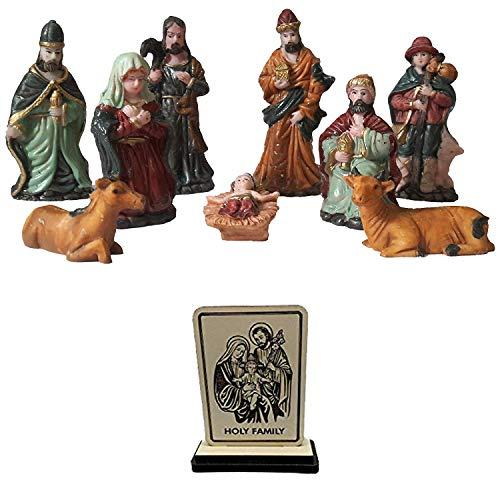 Salvus App SOLUTIONS® 9 Piece Christmas Nativity Crib Set Decoration...