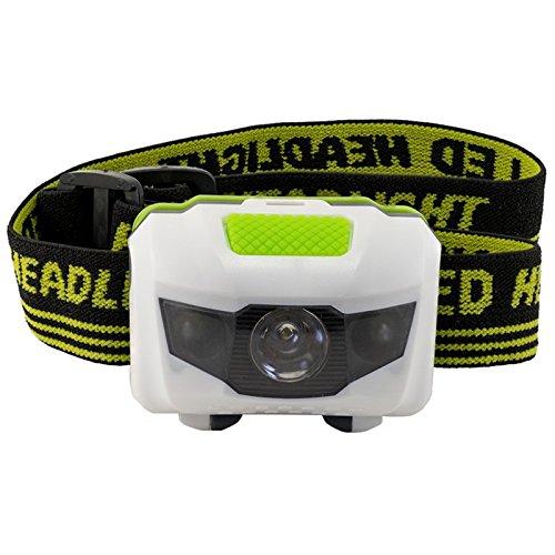 LED-Stirnlampe Taschenlampe Aussenscheinwerfer mit Rotes und weißes Doppellicht Batterien für Camping Wandern