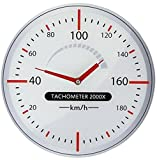 Wanduhr Tachometer aus Glas Werkstattuhr Autowerkstatt Glasuhr
