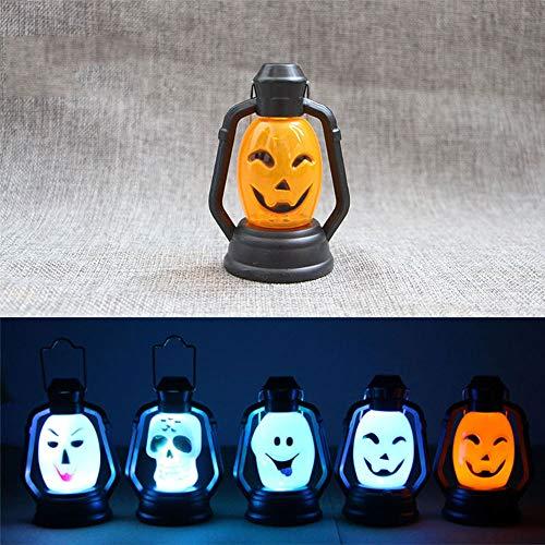 Preisvergleich Produktbild Gulin Halloween Kürbis Schädel LED Licht,  Tragbare hängende Lampe Halloween-Dekorationen liefert,  Startseite Halloween Party Dekoration