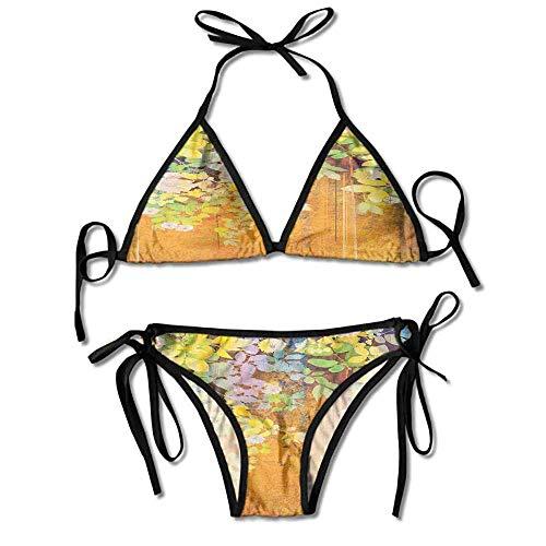 Halter Fashion Sexy Bikini,and Leaves on Misty Sexy Bikini 2 Pieces Misty Leaf