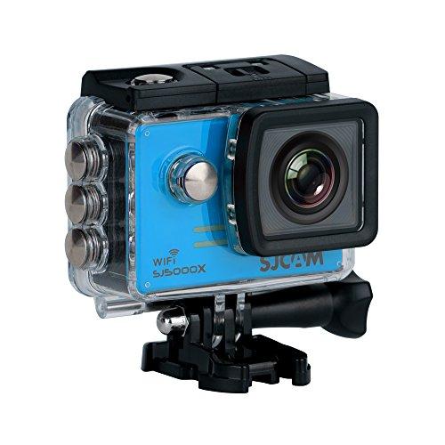 SJCAM SJ5000X-Elite Deutsche Version wasserdichte Sport Actionkamera (5,08 cm (2 Zoll), 4K/2K, WiFi, 30m, 14MP, Gyro Anti-Shake Stabilisierung, 16 Zubehörteile) blau 120 Fps Dvr