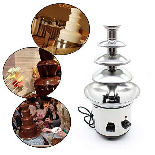 MOMOJA Máquina eléctrica de Fuente de Chocolate 4 Niveles Pantalla de Temperatura de Fondue de fusión de Chocolate para Boda de Fiesta
