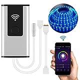 LED-Streifen Lichter Wifi Controller Wireless Smart Controller Kompatibel mit GRB und RGB Streifen Timing-Funktion Sprachsteuerung Kompatibel mit Alexa & Google Home(LED-Streifen nicht inklusive)