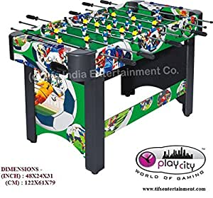 table football. play in the city foosball table / soccer football - brazil world cup l