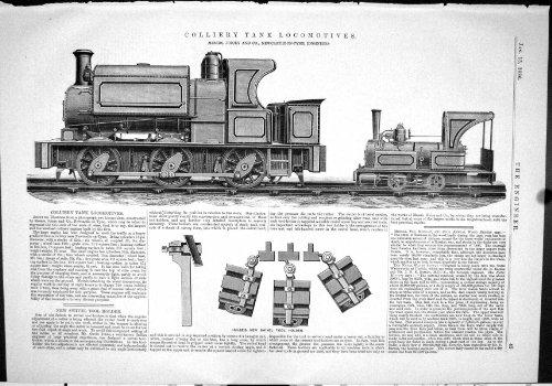 Technik von Schwenker-Werkzeug 1886 Zechen-Tenderlokomotive-Züge Koicey Hulse