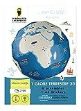 Kit créatif 1 globe terrestre 3D à assembler + 45 stickers Pirouette cacahouète...