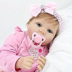 HOOMAI 22inch 55CM bebé Reborn muñeca niña Silicona Realista niño Ojos Abiertos Baby Doll Girls Magnetismo Juguetes
