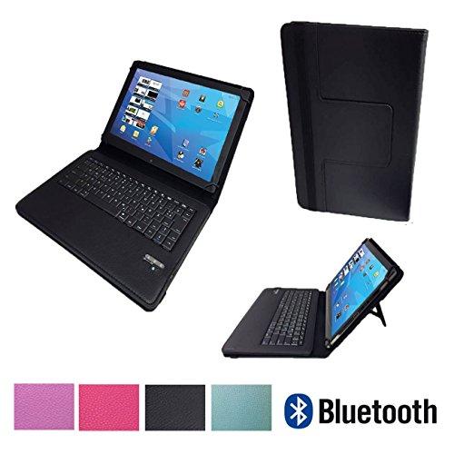 Bluetooth Tastatur Case für MEDION LIFETAB X10607 MD 60658 Tablet Hülle Keyboard - Bluetooth Tastatur Schwarz 10.1 Zoll