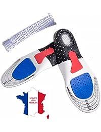❤ KWIM'S France ❤ SEMELLES ORTHOPÉDIQUE, SEMELLE GEL SPORT - SEMELLE CHAUSSURE - Sport Amorti les chocs et soulage les pines calcanennes pour un confort optimal