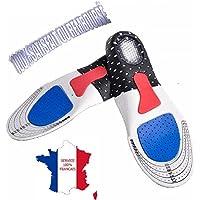 KWIM'S France ❤ SEMELLES ORTHOPÉDIQUE, SEMELLE GEL SPORT - SEMELLE CHAUSSURE - Sport Amorti les chocs et soulage les épines calcèennes pour un confort optimal