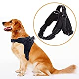 MerryBIY Hundegeschirr Heavy Duty Big Hunde Geschirr Verstellbar Pet Dog