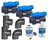 jardiboutique Kit plomberie Montage Chauffage de Votre Piscine Bypass Diametre 50 mm