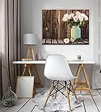 FORWALL Bilder Canvas Rosen in Einer Vase O1 (100cm. x 75cm.) Leinwandbilder Wandbild AMFPP11796O1