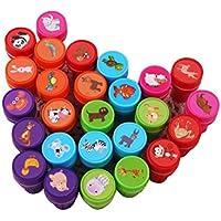 rosenice stampatori animales Juego de sellos de plástico decoración para fiestas de cumpleaños 26piezas