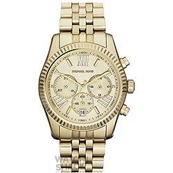 MK5556 Ladies Michael Kors Gold Plated Lexington Chronograph Watch