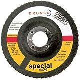 Dronco G-AZ-A - Discos de láminas abrasivas de zirconio, grano 80
