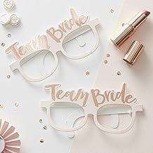 Braut JGA Sonnenbrille Junggesellenabschied Brille Damenbrille Spaßbrille Rosa