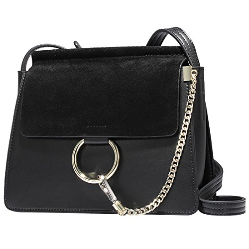 HT Messenger Bag, Borsa a secchiello donna Black
