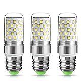 TECHGOMADE 9W E27 LED Kerze Lampen, Ersetzt 80W, Kaltweiß - 6000 Kelvin, Nicht Dimmbar,1000lm, Edison Schraube Kerze Glühbirnen, 3er Pack