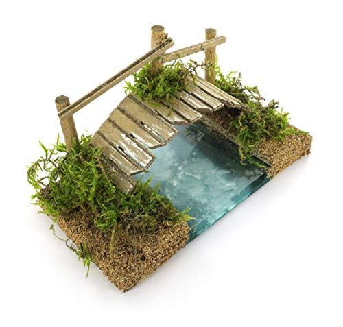 Bertoni foot bridge over the river deep, effetto legno, taglia unica