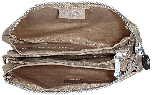 Kipling Creativity L - Portamonete Donna, Mehrfarbig (Water Camo), 18.5x11x0.1 cm (B x H T) Grigio (Warm Grey)