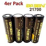 BASEN 21700Batterie 4000mAh haute puissance 30A 3,7V Batterie Flat Top. très haute capacité. 4 Stück