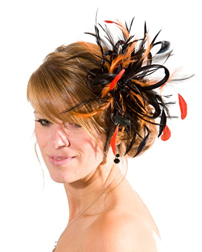 Maighread Stuart Millinery - Bandeau - Femme Multicolore - Black /Orange
