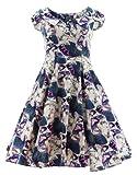H&R London Kleid BLUE BUTTERFLY DRESS 5075 Weiß UK12 M