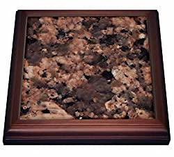 3dRose trv_97951_1 Giallo Fiorito Granite Print Trivet with Ceramic Tile, 8 x 8, Natural