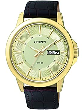 Citizen Herren-Armbanduhr Analog Quarz Leder BF2013-05PE