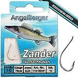 Angel-Berger Vorfachhaken gebundene Haken (Aal/Wurm, Gr.8 0.30mm)
