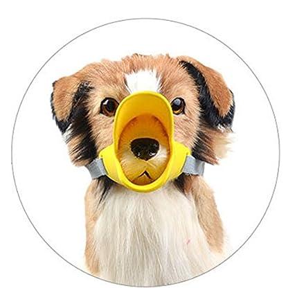 Enjoymore Pet Dog Muzzle Ultra-Soft Silicone Duckbill Mouth Sleeve Anti-biting Barking Pet Dog Adjustable Safety Muzzle… 3